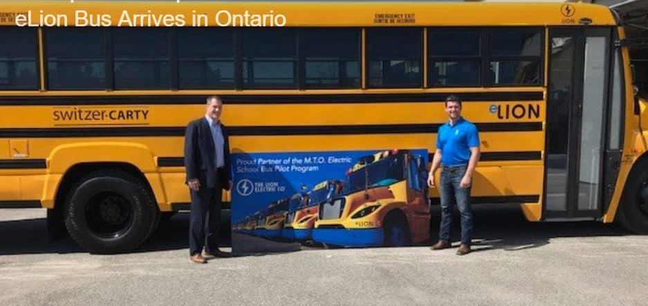 Electric Battery eLion Bus Ontario Switzer-Carty Transportation